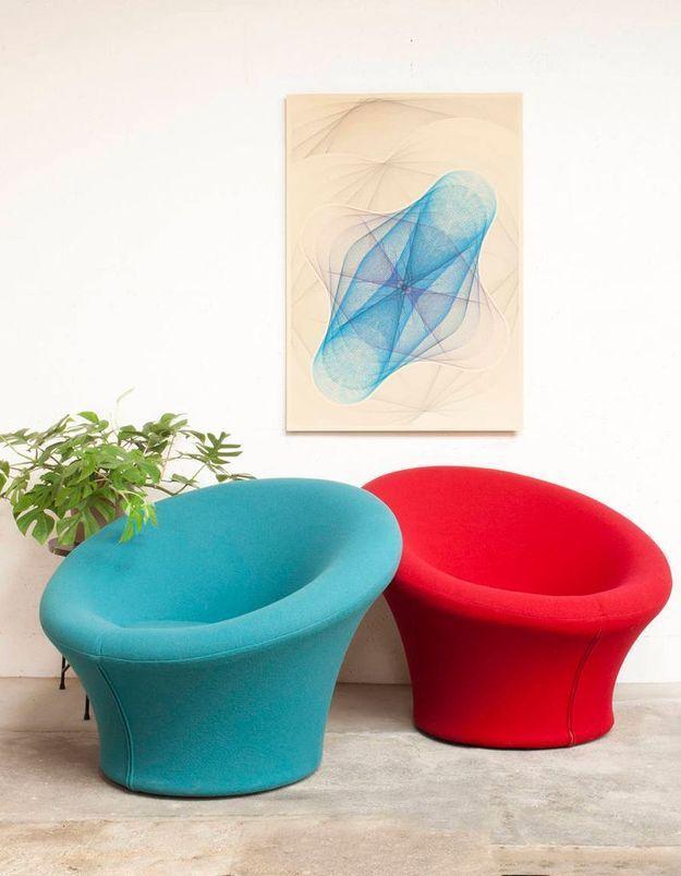 Fauteuil design Mushroom de Pierre Paulin, édité par Artifort