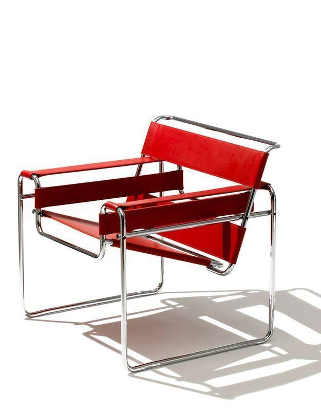 """Fauteuil design """"Wassily"""" de Marcel Breuer, édité par Knoll"""