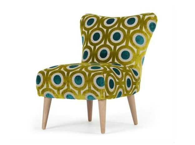 Fauteuil design velours motife made