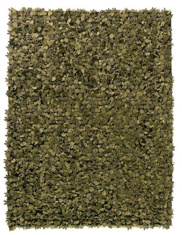 Tapis de feuilles en laine