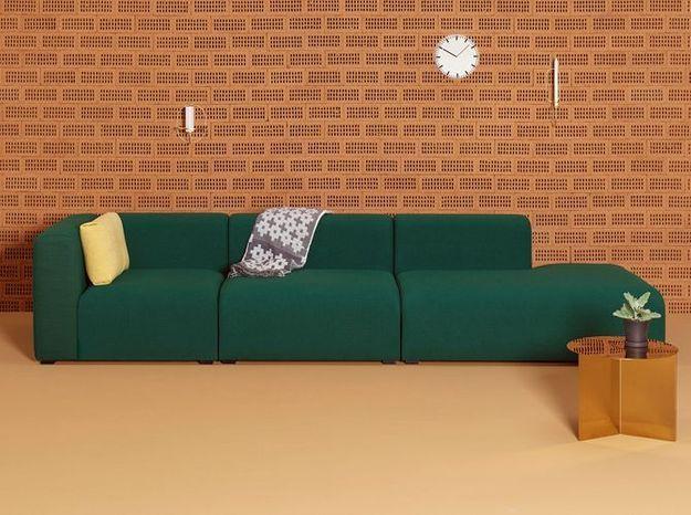 Un canapé modulable vert tendance