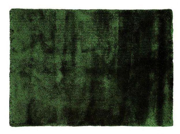 Un tapis cocooning vert forêt
