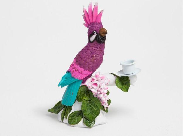 Un chandelier girly façon perroquet