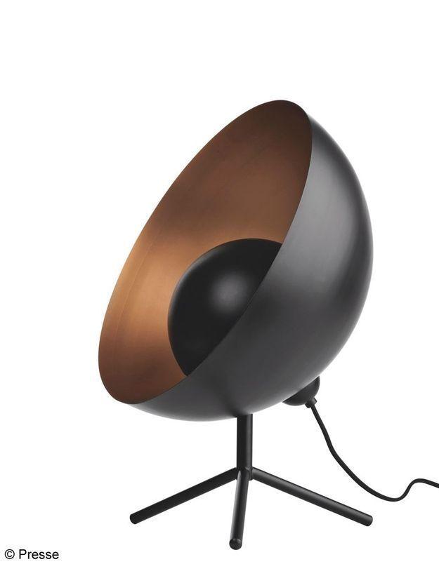 Lampe en métal noir et cuivre Bo Concept
