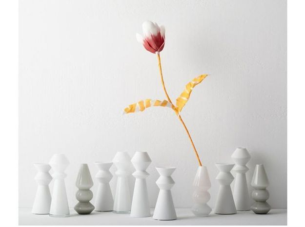 Vase geometrique blanc