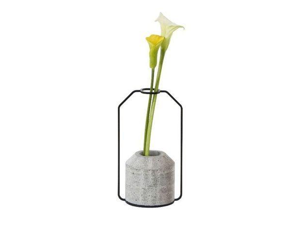 Vase soliflore beton