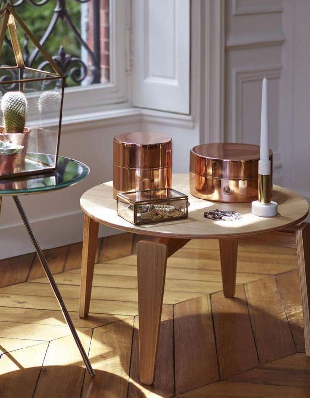 Table basse en bois contemporaine