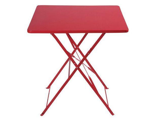 Table rouge maisons du monde