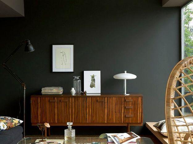 Peinture salon plus de 20 couleurs canons pour le repeindre elle d coration - Salon gris anthracite ...
