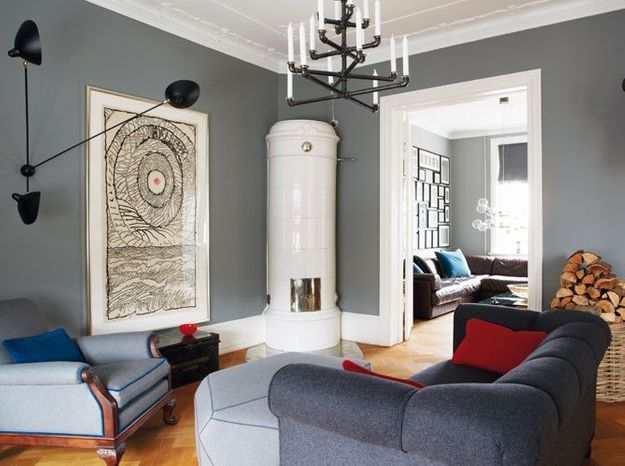 Peinture salon plus de 20 couleurs canons pour le repeindre elle d coration - Peinture gris clair salon ...