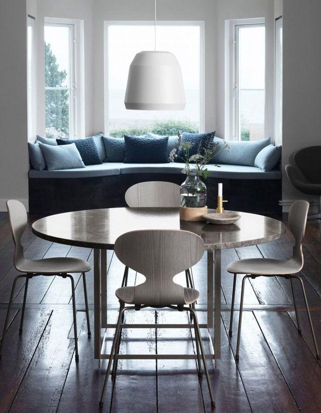 Une salle à manger aux assises iconiques