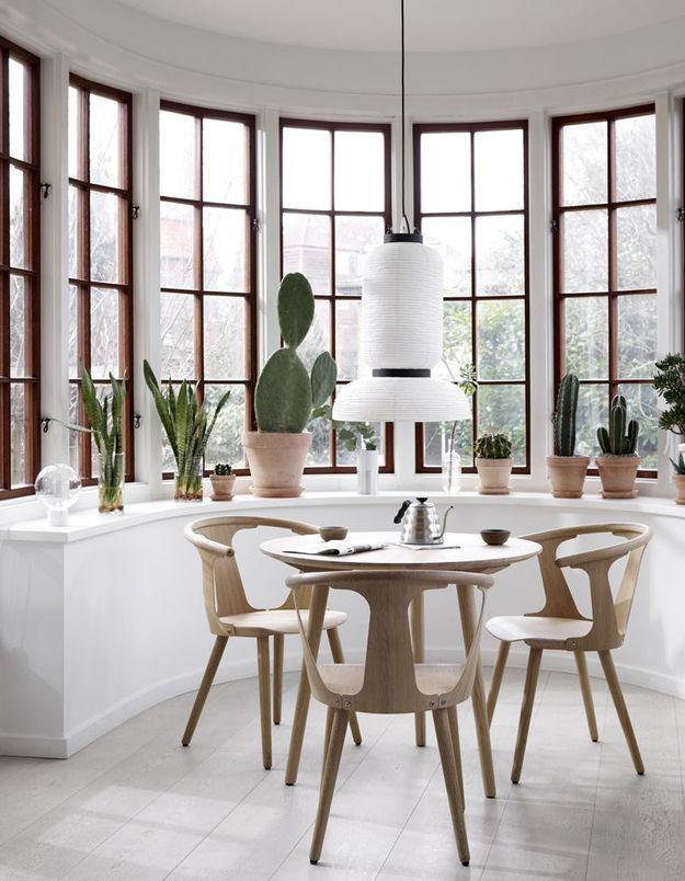 Une salle à manger lumineuse