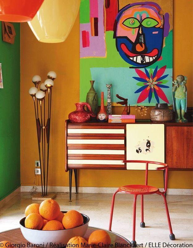 Salon multicolore