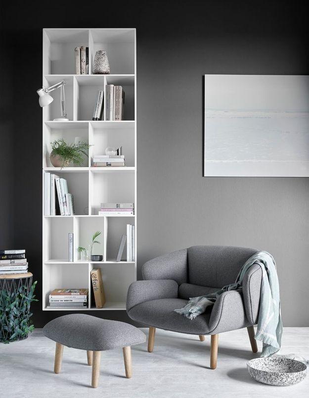 Un salon gris comme un cocon