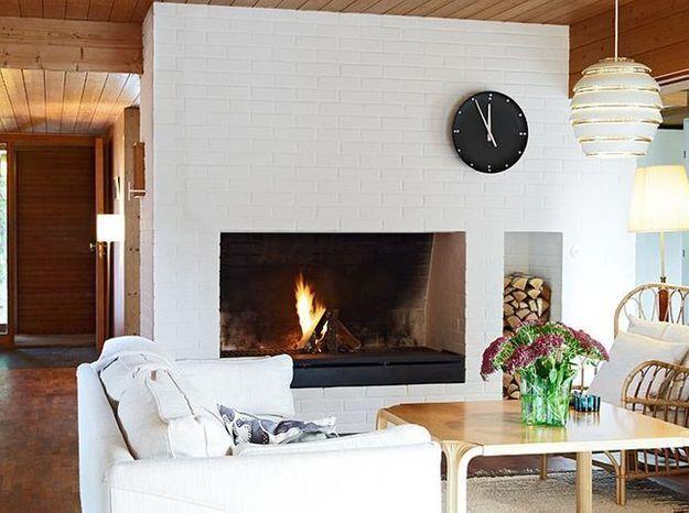 Un salon cosy et blanc