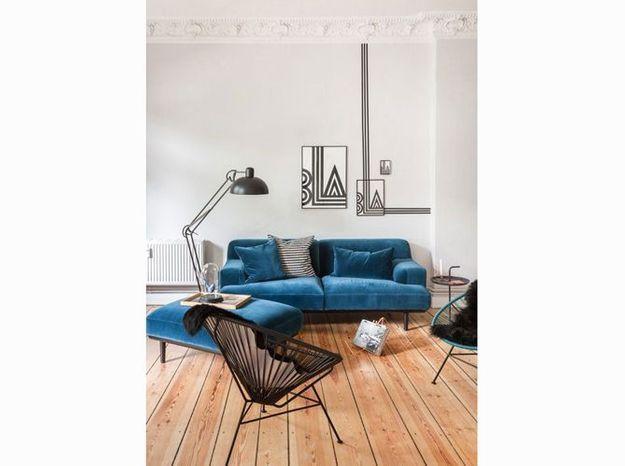 Decoration Salon Turquoise Et Noir: Beautiful salon bleu turquoise ...
