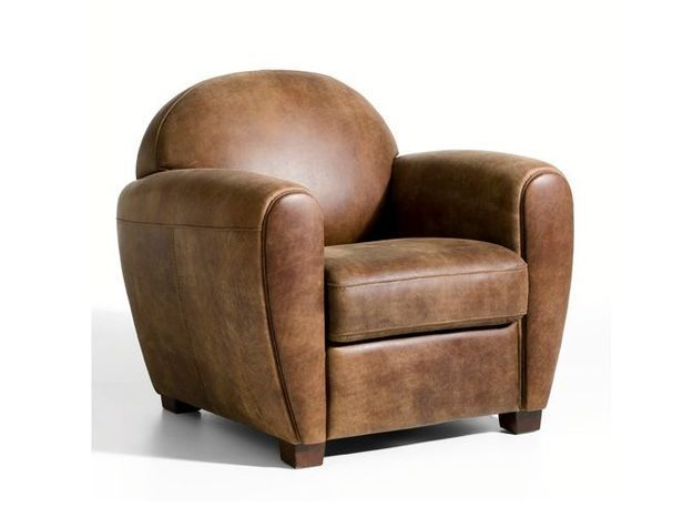 Fauteuil cuir barnabe am pm