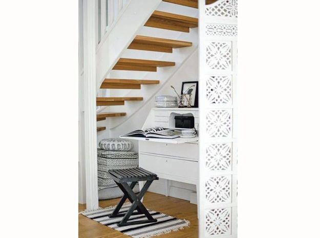 Un joli meuble sous l'escalier