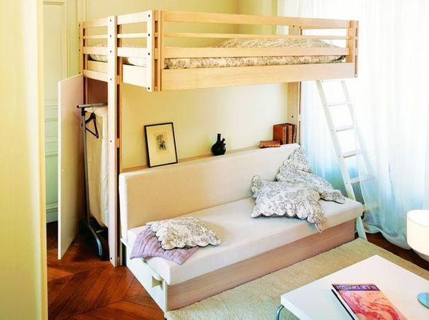 Un dressing dans un lit mezzanine