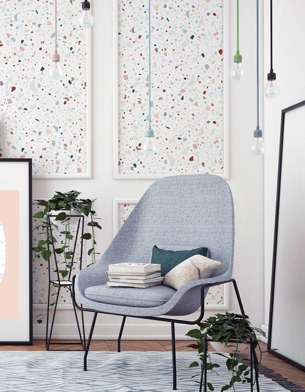 Séparer les espaces via du papier peint