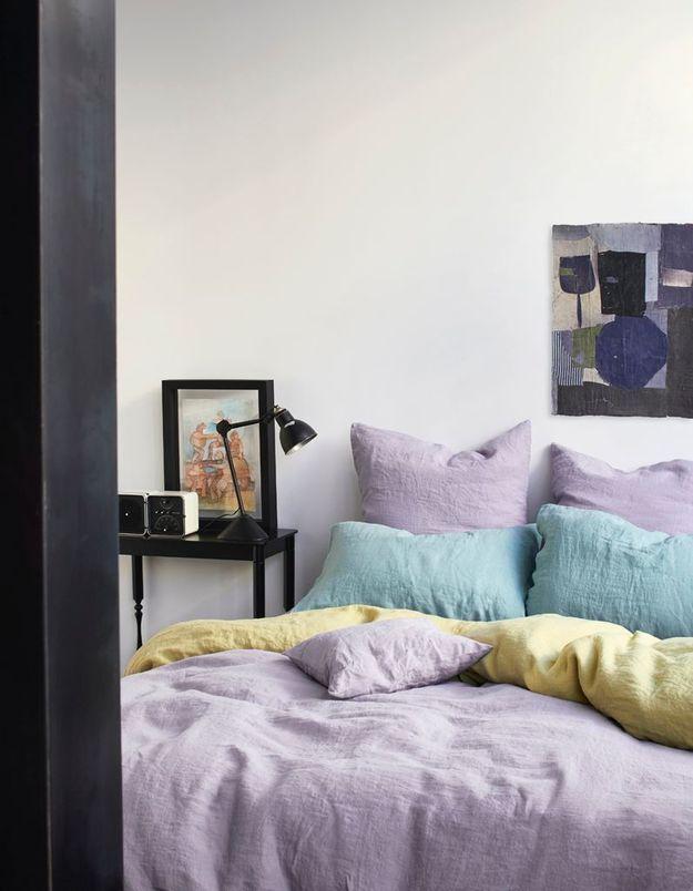 Linge de lit en lin pour une déco cocooning