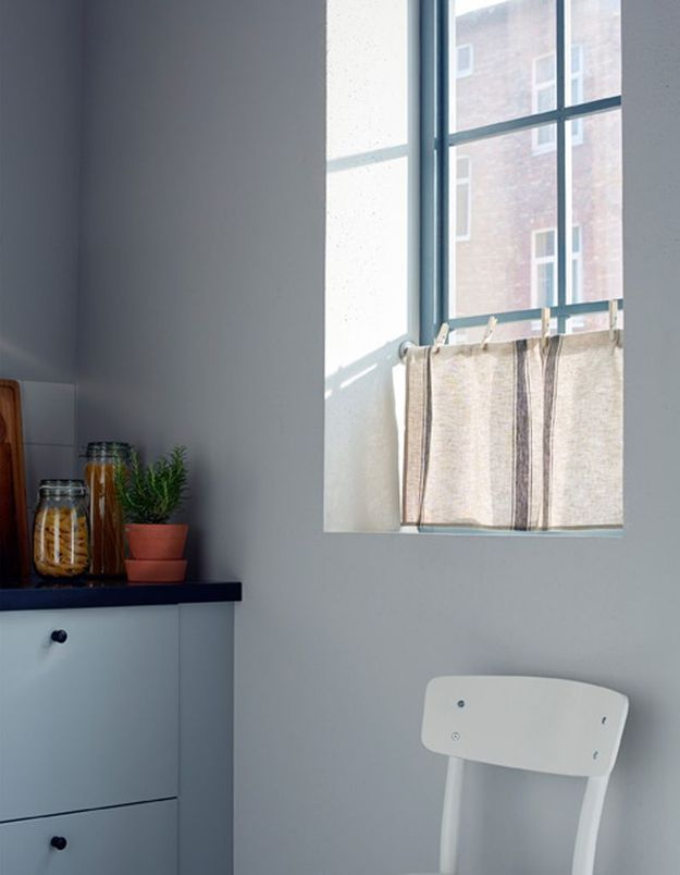 Des torchons Ikea détournés en rideaux