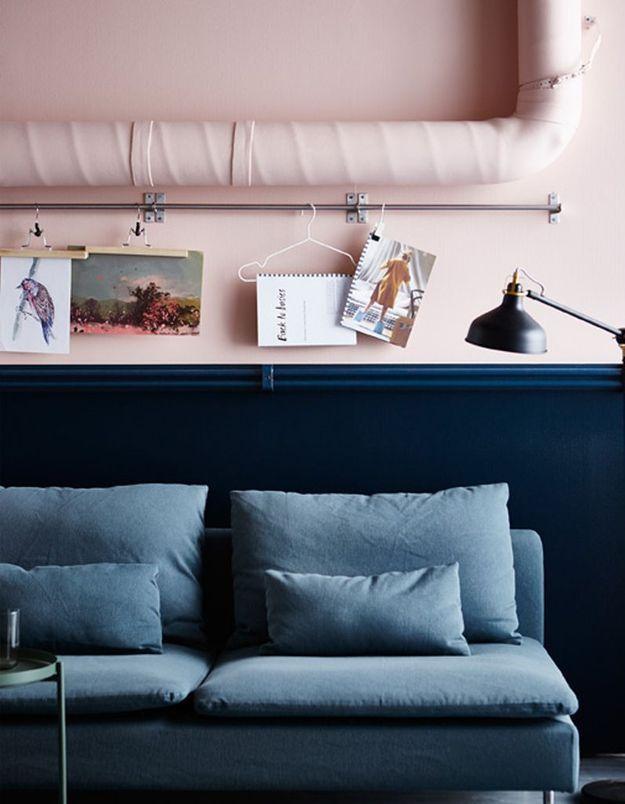 Une barre murale Ikea détournée en porte-photos