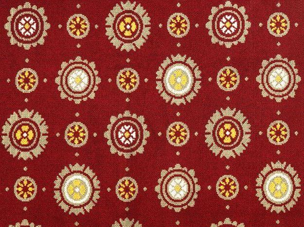 Tissu rouge ethnique