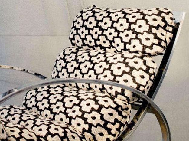 Chaise longue tissu a fleurs