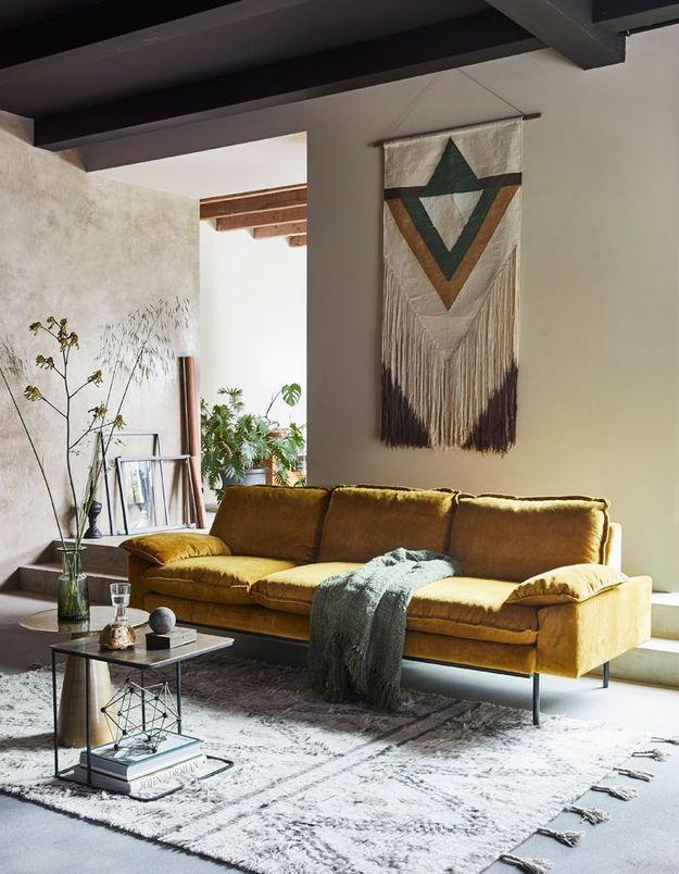 Un tissage mural pour une décoration cosy
