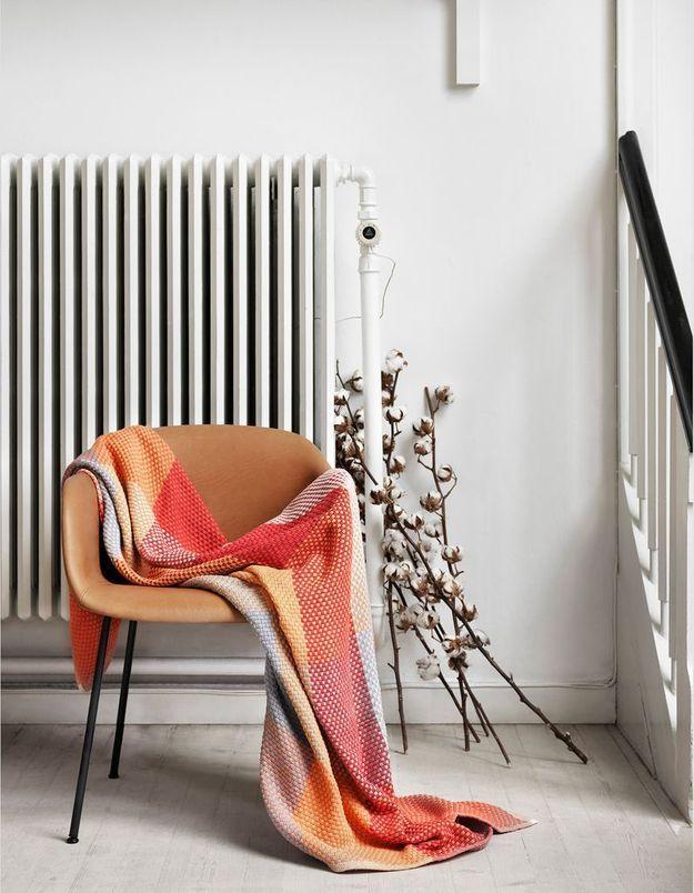 Un coin douillet près du radiateur pour une décoration cosy
