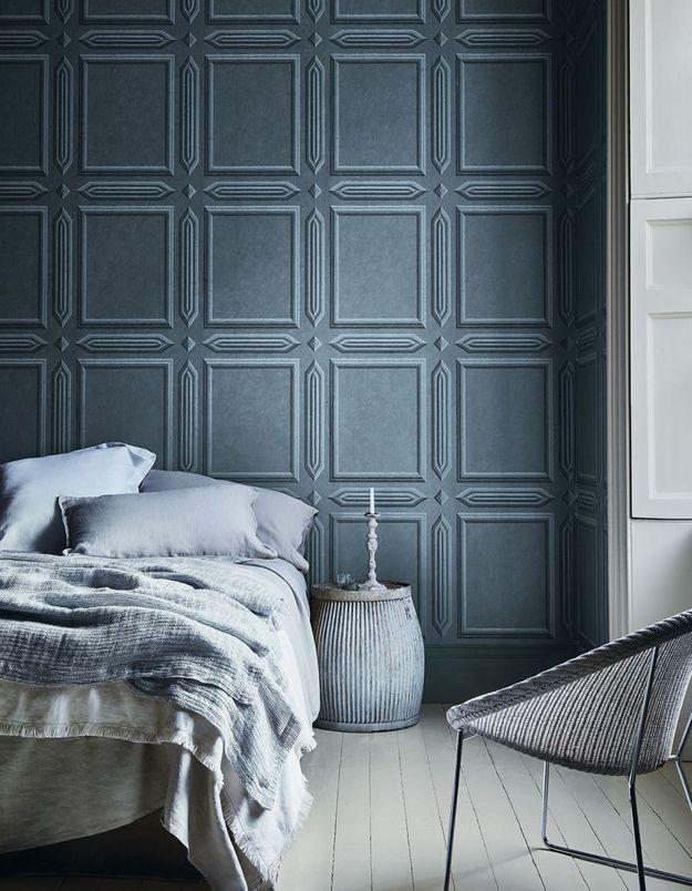 Une déclinaison de gris bleutés pour une décoration cosy