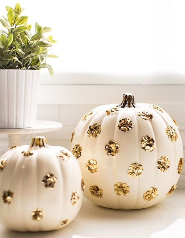 Citrouille à paillettes pour Halloween