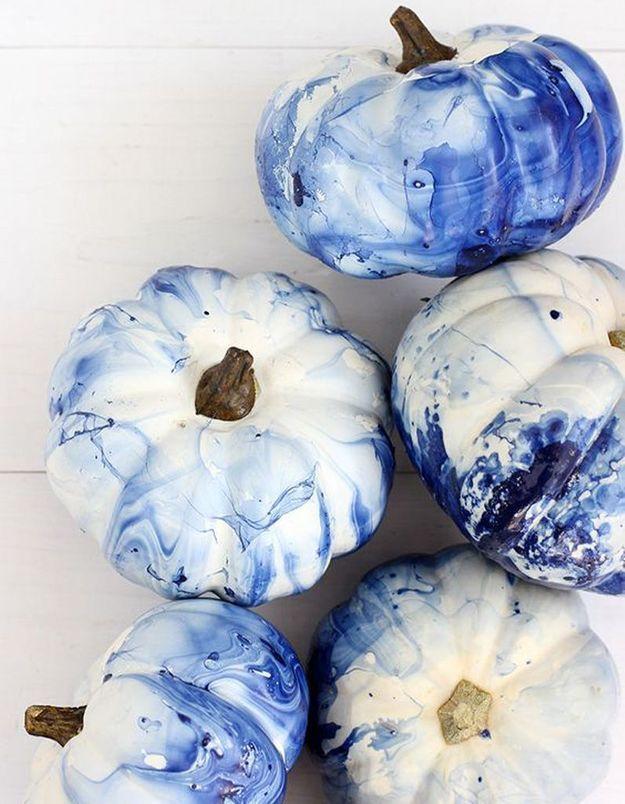 Citrouille bleue pour Halloween