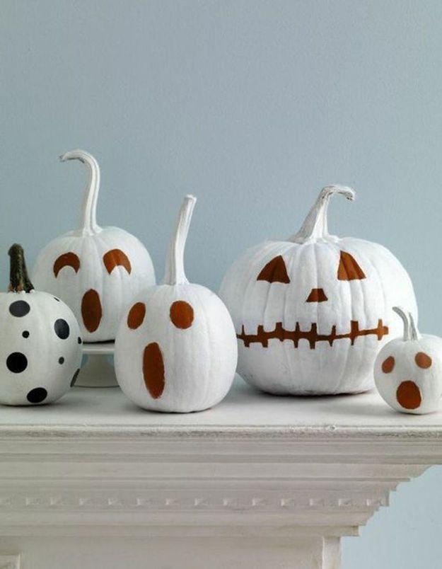 Peindre sa citrouille d 39 halloween la bonne id e d co elle d coration - Citrouille effrayante ...