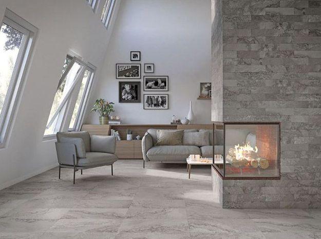 Un salon blanc qui mixe le gris et le beige pour un rendu contemporain