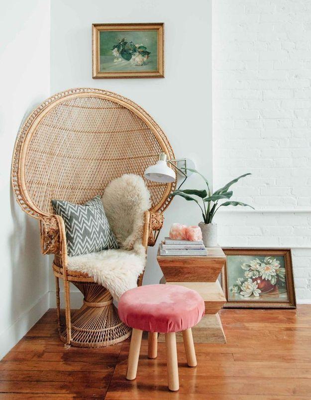 Un fauteuil Emmanuelle girly