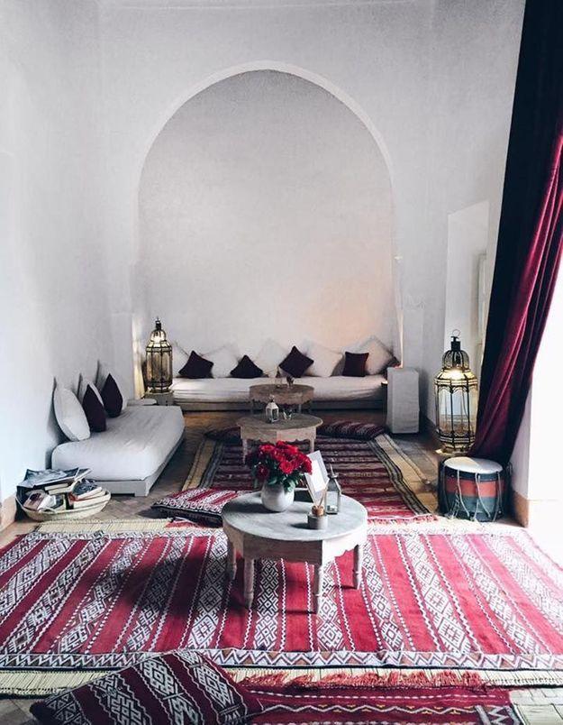 Ces 30 id es d co qu 39 on pique aux riads marocains elle d coration - Tapis laine contemporain solde ...