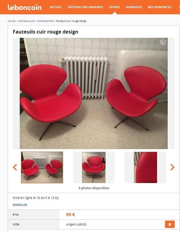 Des fauteuils design rouges dans les Pays de la Loire