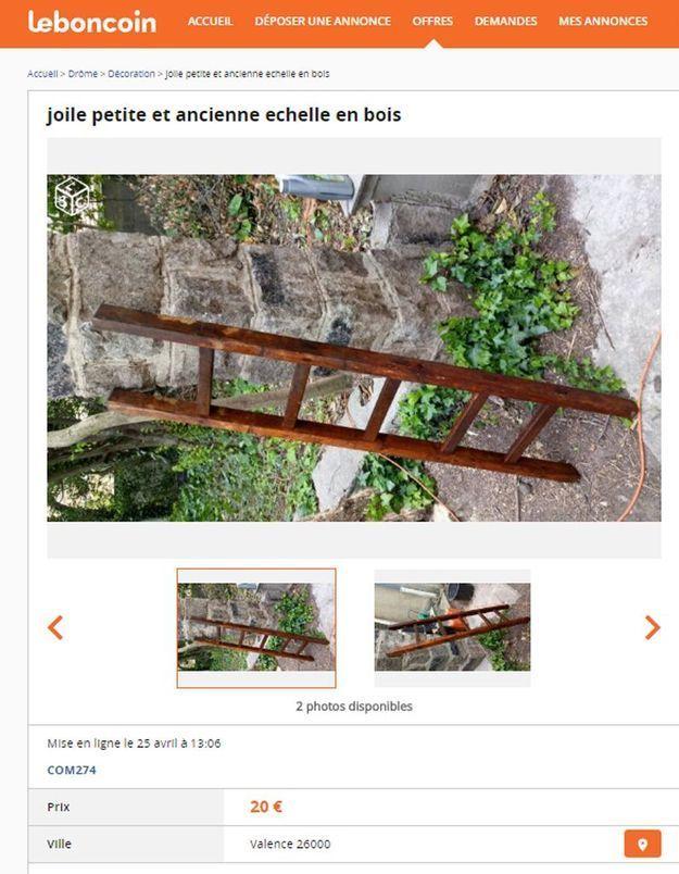 Une ancienne échelle en Rhone-Alpes