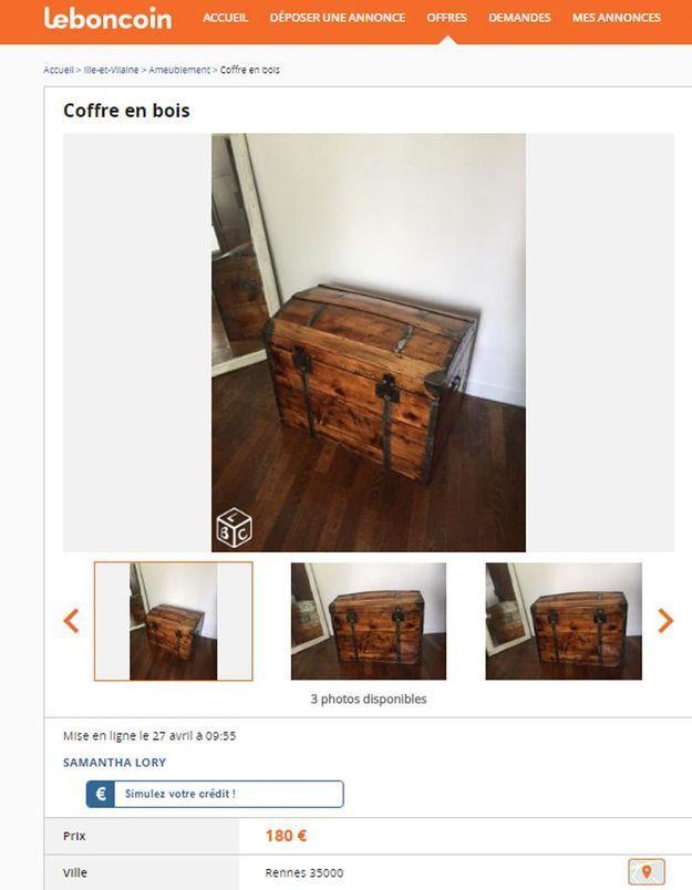 Une ancienne malle en bois en Bretagne