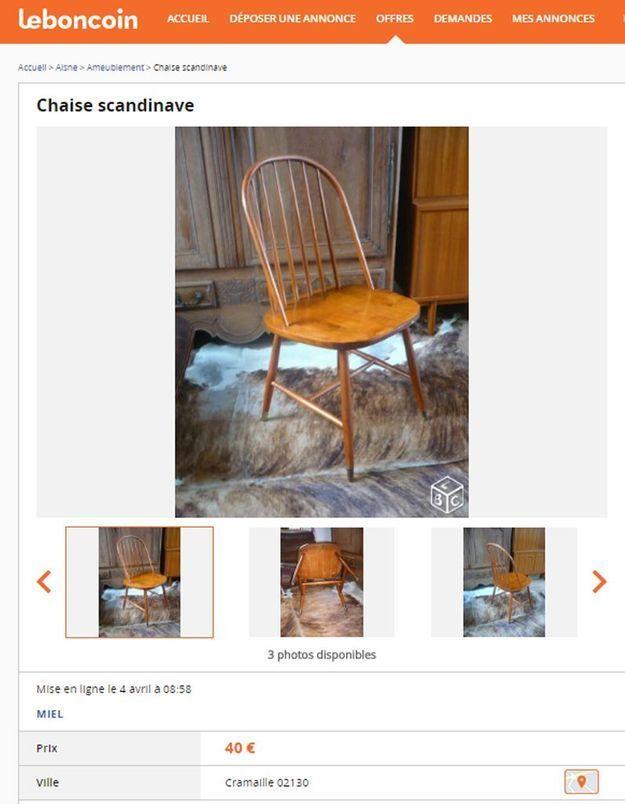 Une chaise aux lignes scandinaves en Picardie