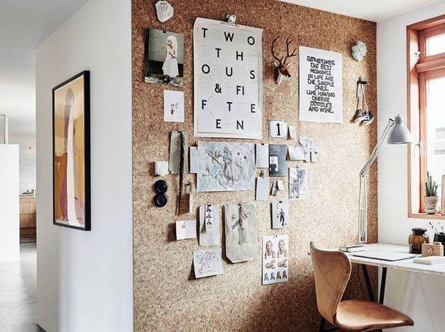 Fabriquez un mur de liège pour y accrocher vos papiers