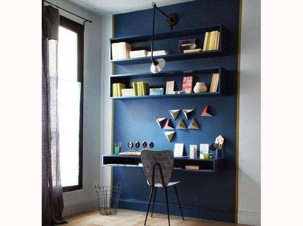 Peignez votre bureau de la même couleur que votre mur
