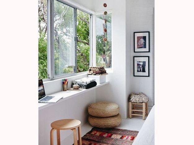 Utilisez un rebord de fenêtre en guise de bureau