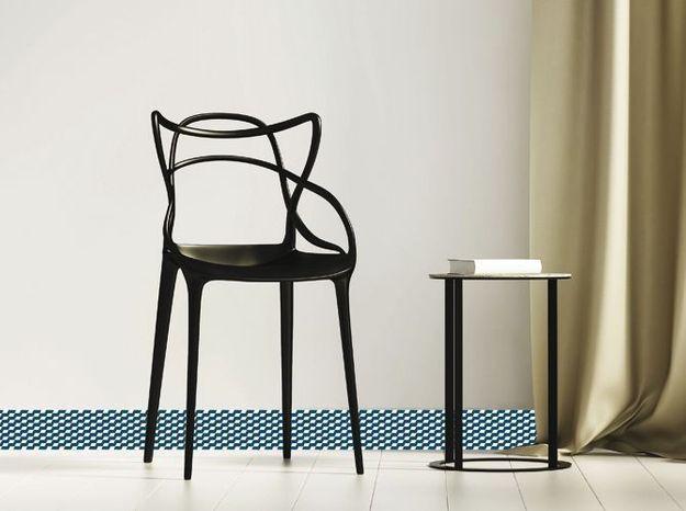 Plinthe Décorative PVC Motifs Bleus