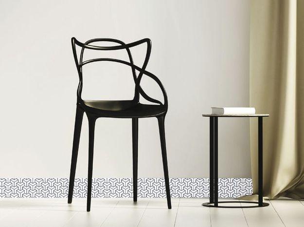 Plinthe Décorative PVC Noir Et Blanc