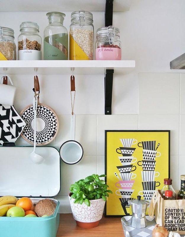 Utilisez vos bocaux vides comme petits rangements pour la cuisine