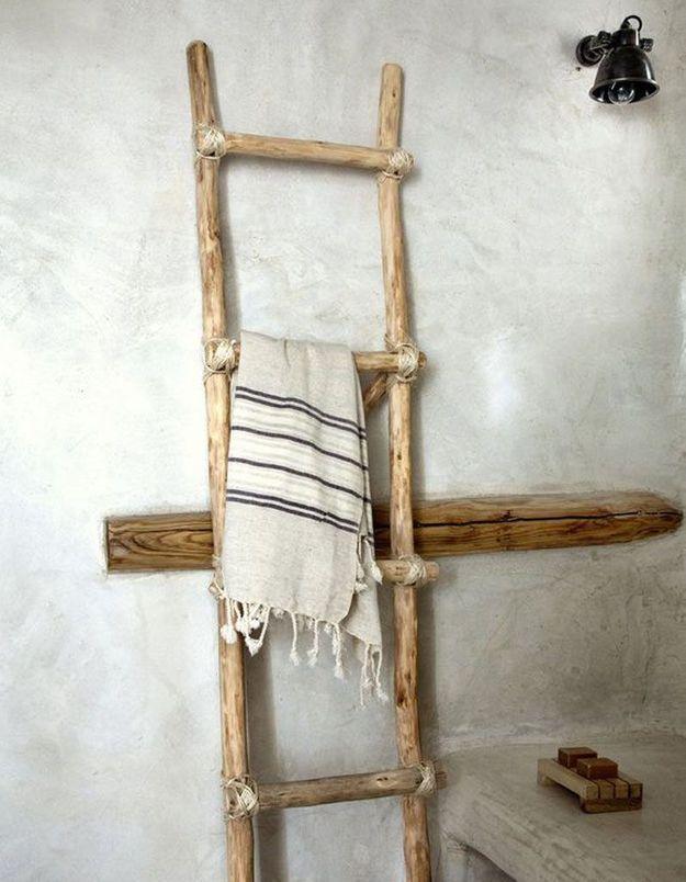 Fabriquer une échelle en bois flotté