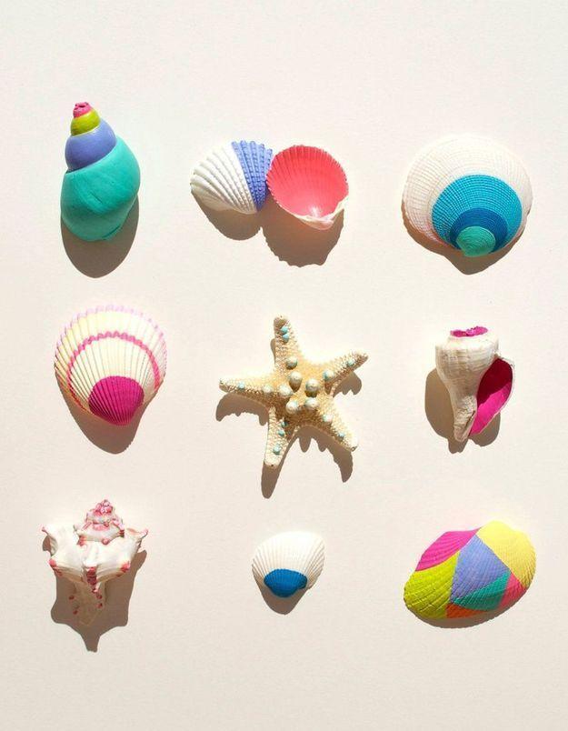 Imaginer un atelier peinture avec des coquillages